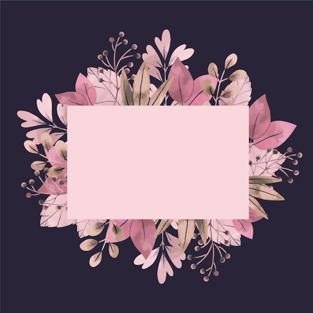 Bannière vide avec des fleurs d'hiver Vecteur gratuit