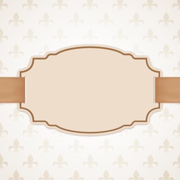 Bannière Vierge Avec Ruban Doré. Contexte Vintage Et Classique. Vecteur Premium