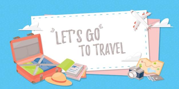 Bannière De Voyage Pour Le Web, Une Affiche Ou Une Application. Vecteur Premium
