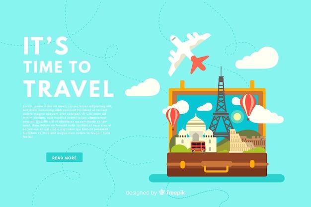 Bannière de voyage Vecteur gratuit