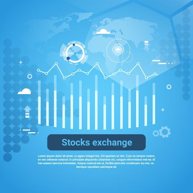 Bannière web d'entreprise concept de la bourse Vecteur Premium