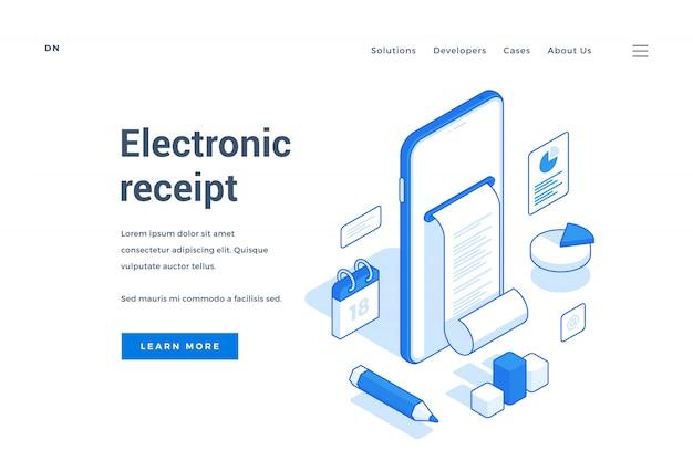 Bannière Web Pour Un Service De Commerce électronique Contemporain Vecteur Premium