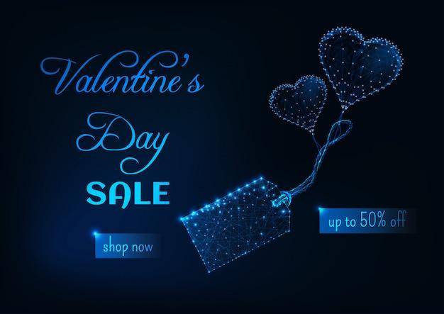 Bannière Web Vente Saint Valentin Vecteur Premium