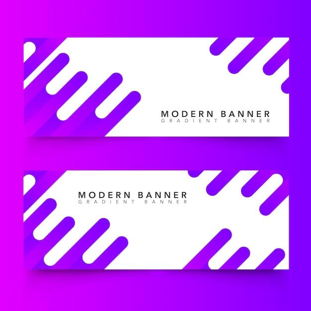 Bannières abstraites modernes Vecteur gratuit