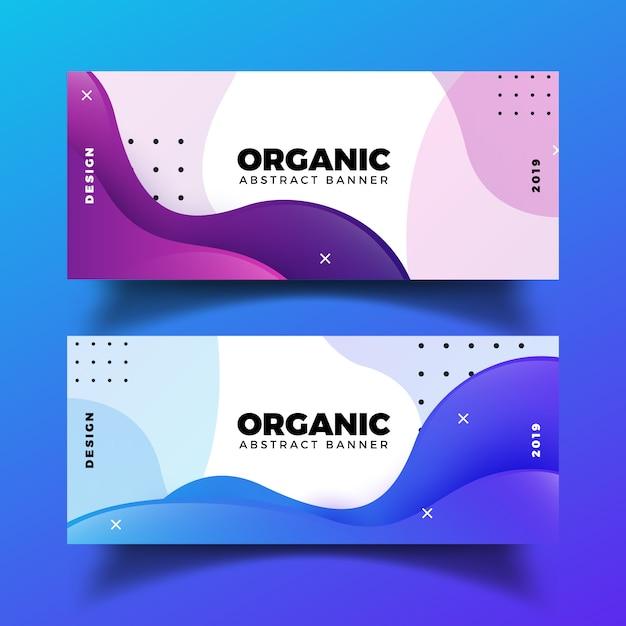 Bannières abstraites organiques Vecteur gratuit