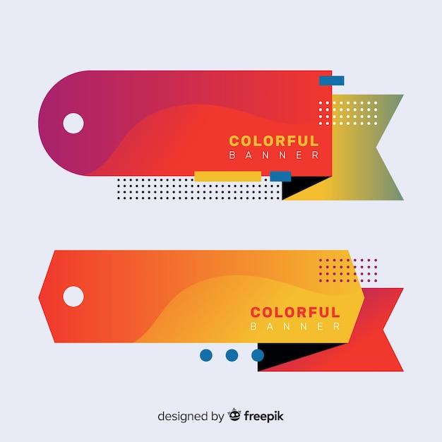 Bannières colorées Vecteur gratuit