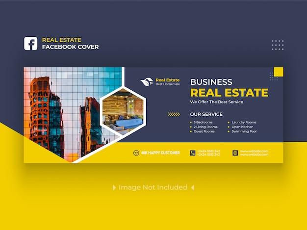 Bannières De Couverture Facebook Immobilier Premium Vecteur Premium