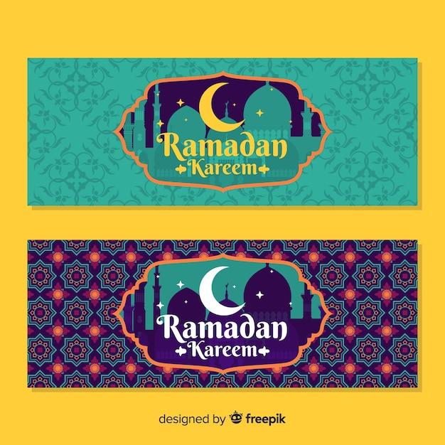 Bannières du ramadan Vecteur gratuit