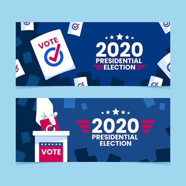 Bannières De L'élection Présidentielle 2020 Vecteur gratuit