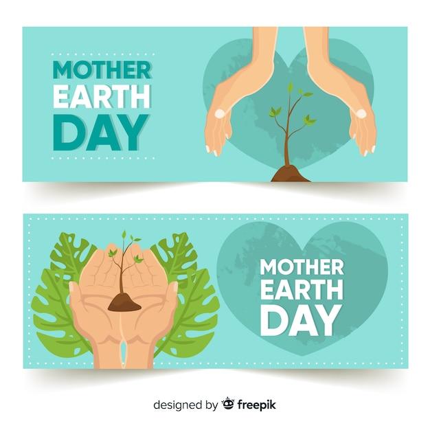 Bannières de la fête des mères Vecteur gratuit