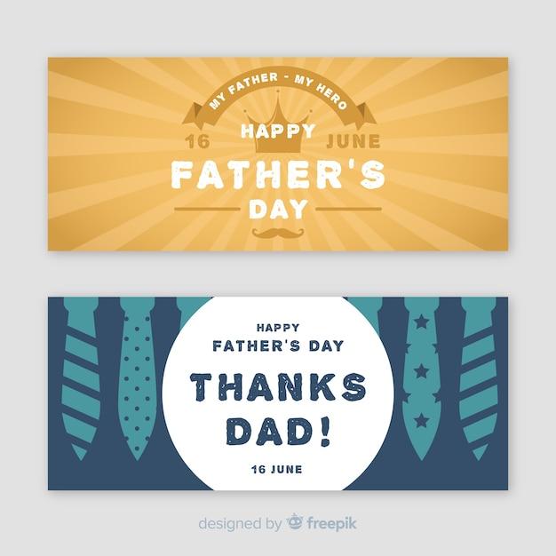 Bannières de fête des pères Vecteur gratuit