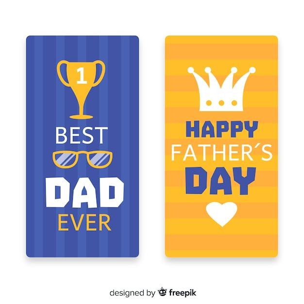 Bannières de la fête des pères Vecteur gratuit