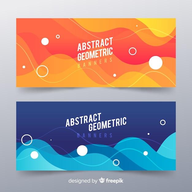 Bannières Géométriques Abstraites Vecteur gratuit