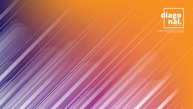 Bannières horizontales avec abstrait et formes de lignes diagonales. Vecteur Premium