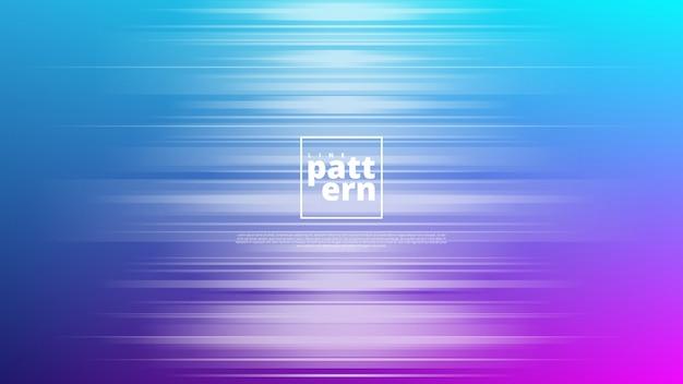 Bannières horizontales avec abstrait et formes de lignes horizontales Vecteur Premium