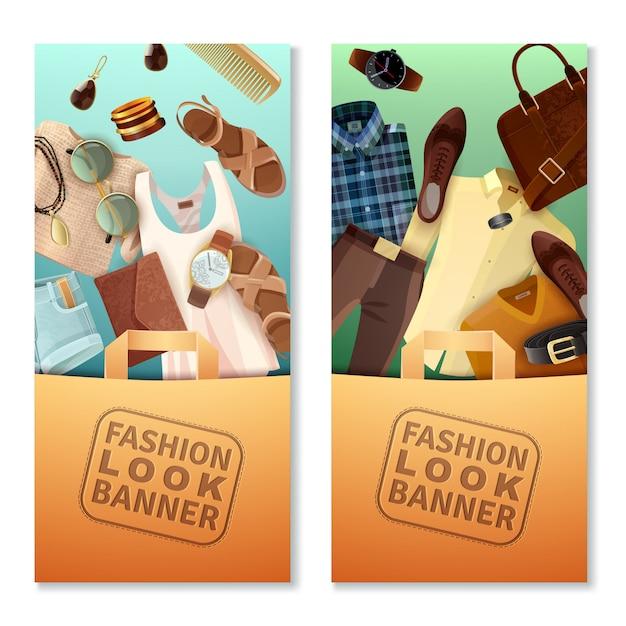 Bannières Look Fashion Vecteur gratuit