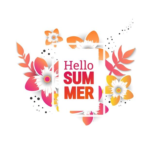 Bannières de mise en page de fond de vente de l'été. Vecteur Premium