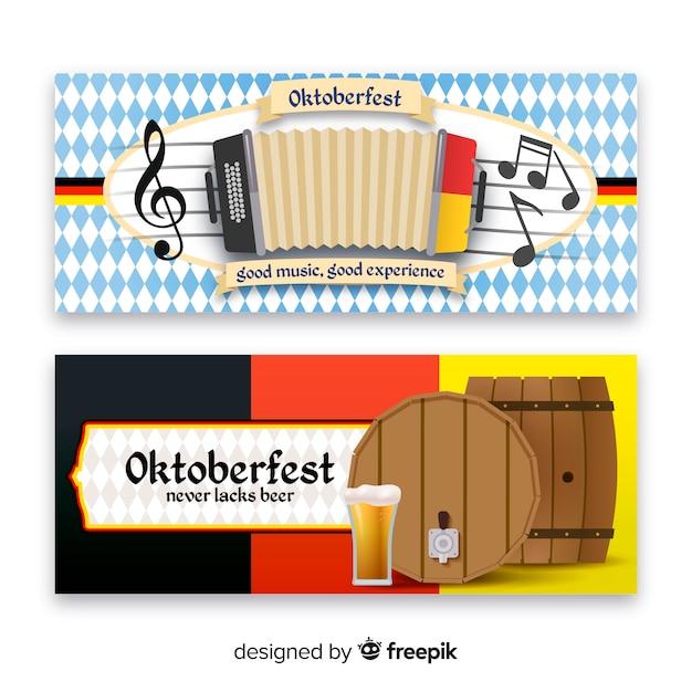 Bannières oktoberfest Vecteur gratuit