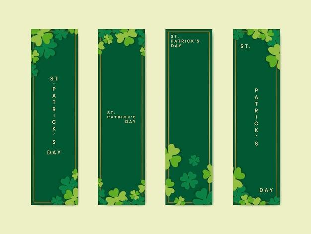 Bannières Saint Patrick Vecteur gratuit