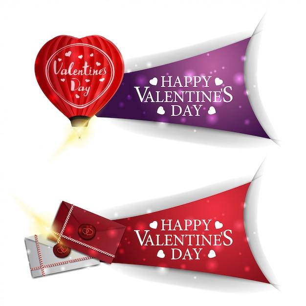 Bannières saint valentin Vecteur Premium