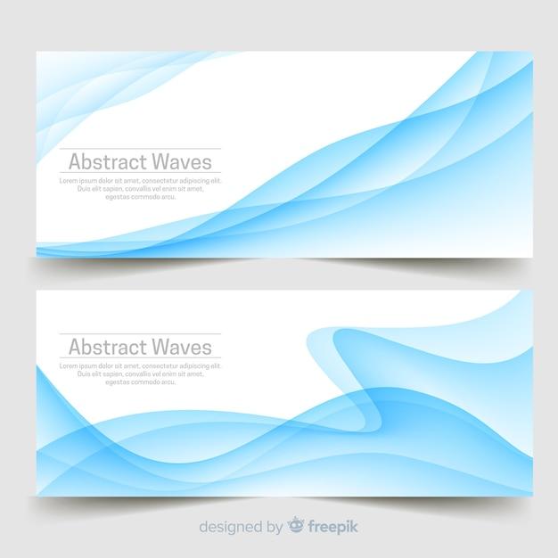 Bannières de vagues abstraites Vecteur gratuit