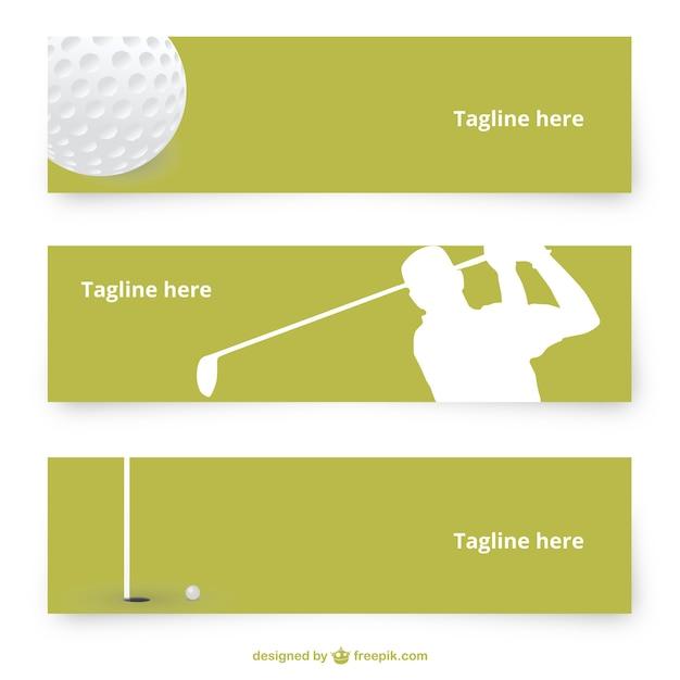 Bannières vecteur de golf Vecteur gratuit