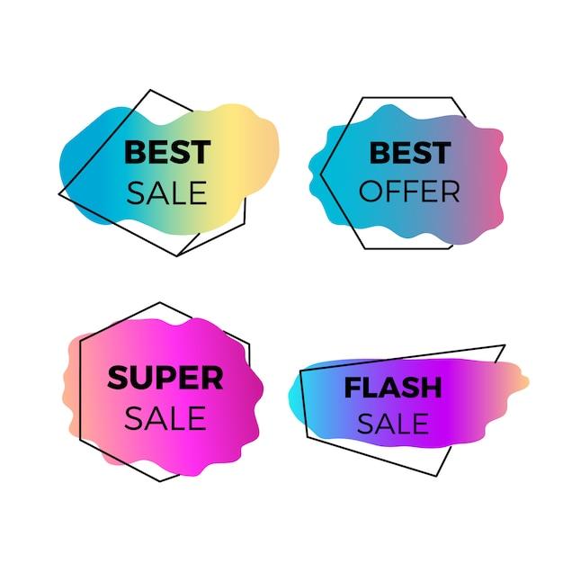 Bannières de vente colorées Vecteur gratuit
