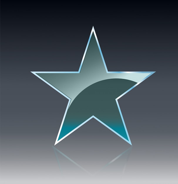 Bannières En Verre étoiles Brillent Modèle De Forme Sur Fond Transparent. Vecteur Premium
