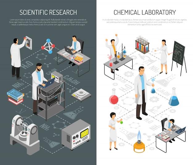 Bannières Verticales De Recherche Scientifique Vecteur gratuit