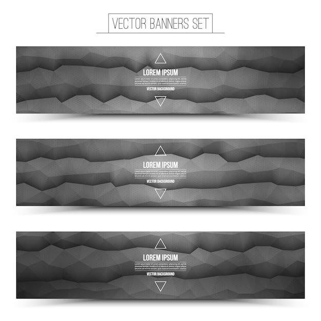 Bannières web vector technologie abstraite Vecteur Premium