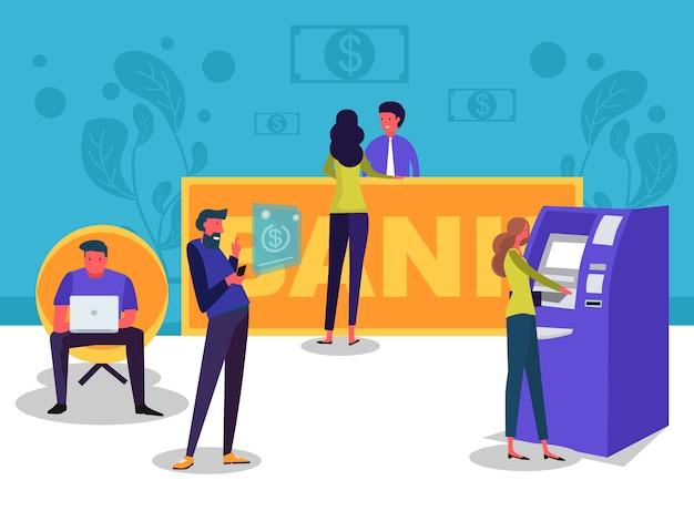 Banque en ligne Vecteur Premium