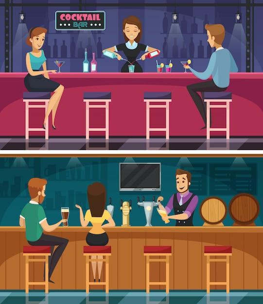 Bar à cocktails Vecteur gratuit