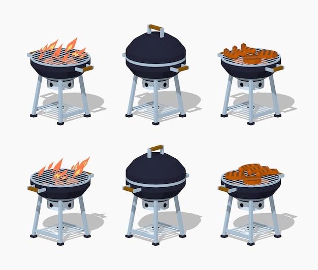 Barbecue Isométrique 3d Lowpoly Vecteur Premium