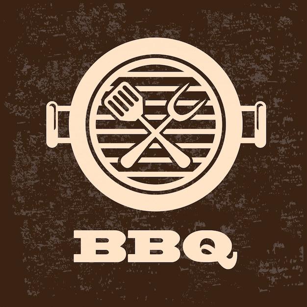 Un barbecue Vecteur Premium
