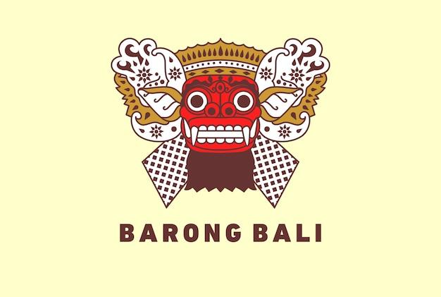 Barong culture traditionnelle de bali Vecteur Premium