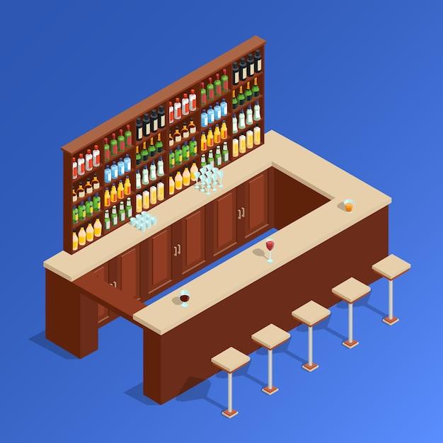 Barre isométrique composition Vecteur gratuit