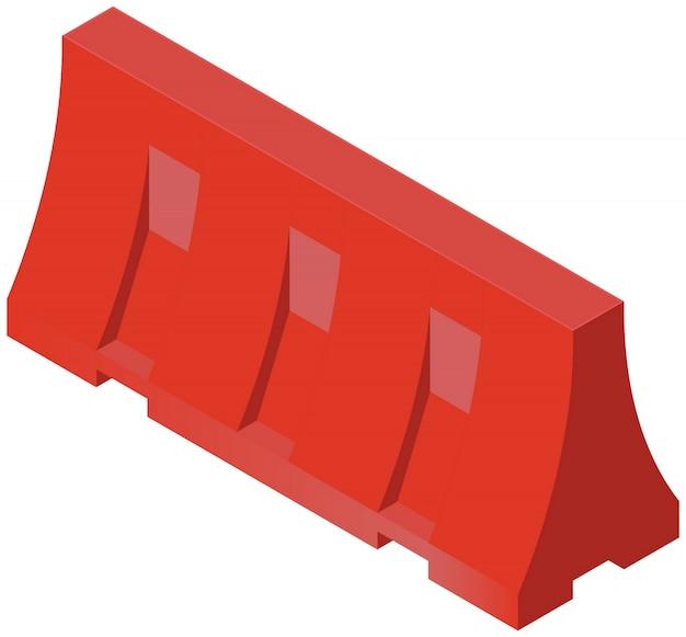 Barrière de construction Vecteur Premium