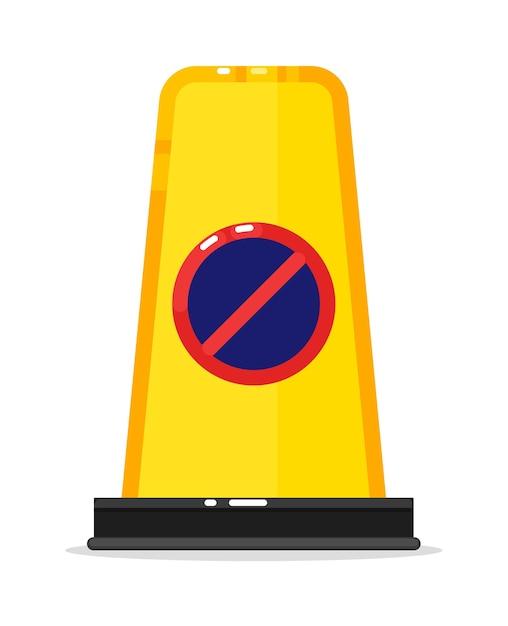 Barrière De Route D'avertissement Sans Panneau De Signalisation Vecteur Premium