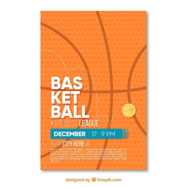 Basket-ball brochure abstraite Vecteur gratuit