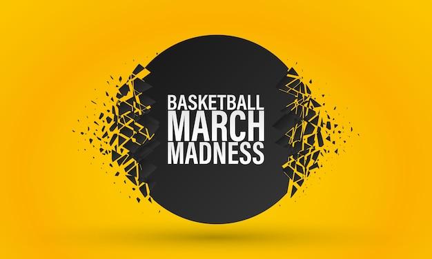 Basketball March Madness Vecteur Premium