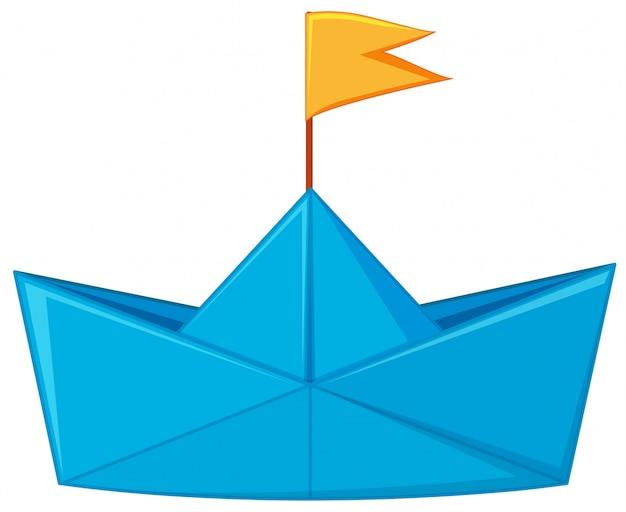 bateau en papier bleu avec drapeau jaune t l charger des. Black Bedroom Furniture Sets. Home Design Ideas