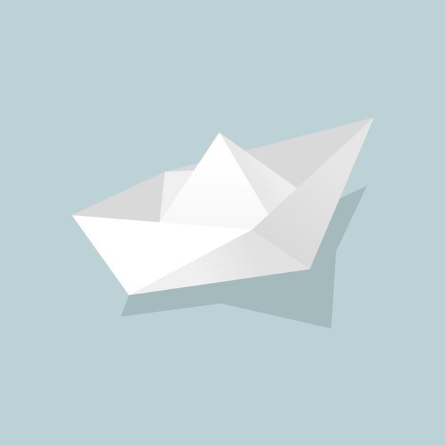 Bateau de papier Vecteur gratuit