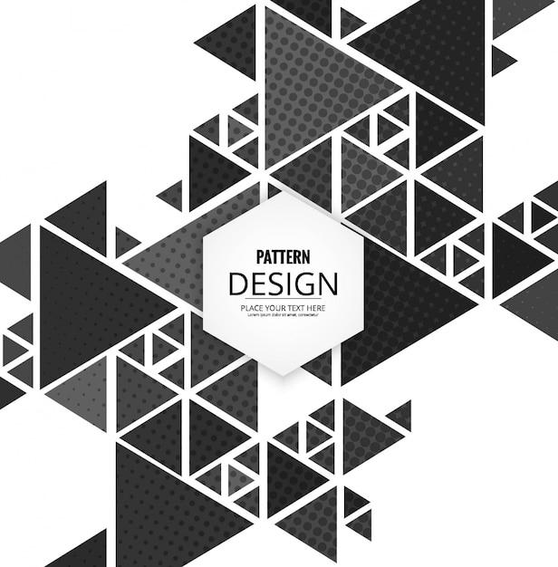 Bâtiment polygonal moderne Vecteur gratuit