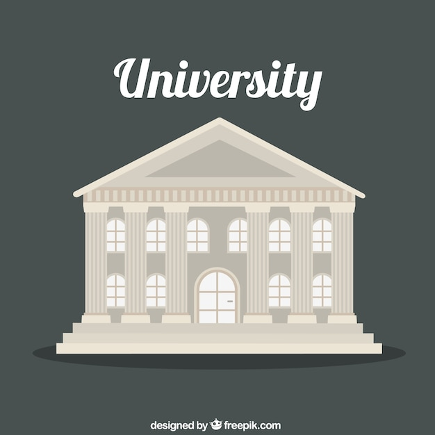 Bâtiment de l'université Vecteur gratuit