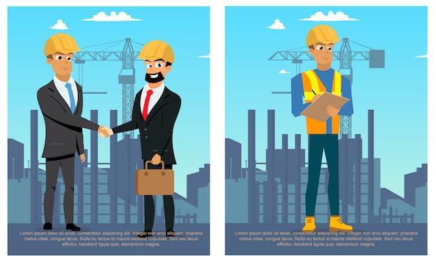 Bâtiments De Construction De Ville Moderne Vecteur gratuit