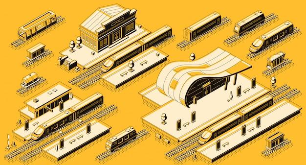 Bâtiments de la gare Vecteur gratuit
