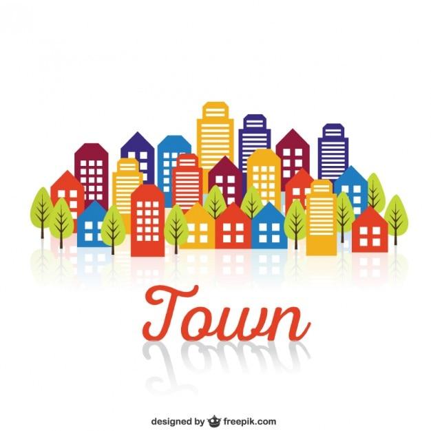 Bâtiments de la ville Vecteur gratuit