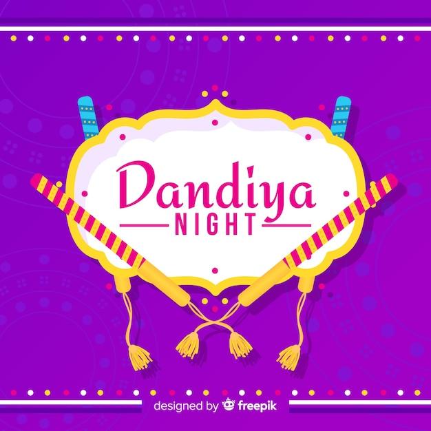 Bâtons rayés fond dandiya Vecteur gratuit