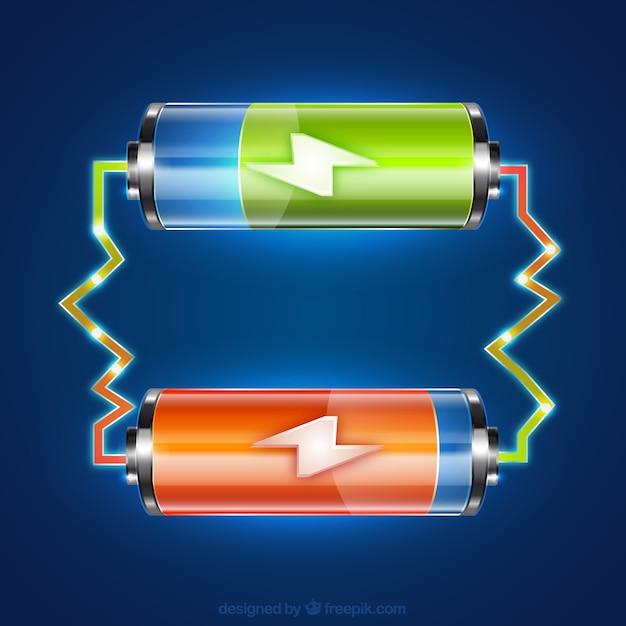 Batteries Vecteur gratuit