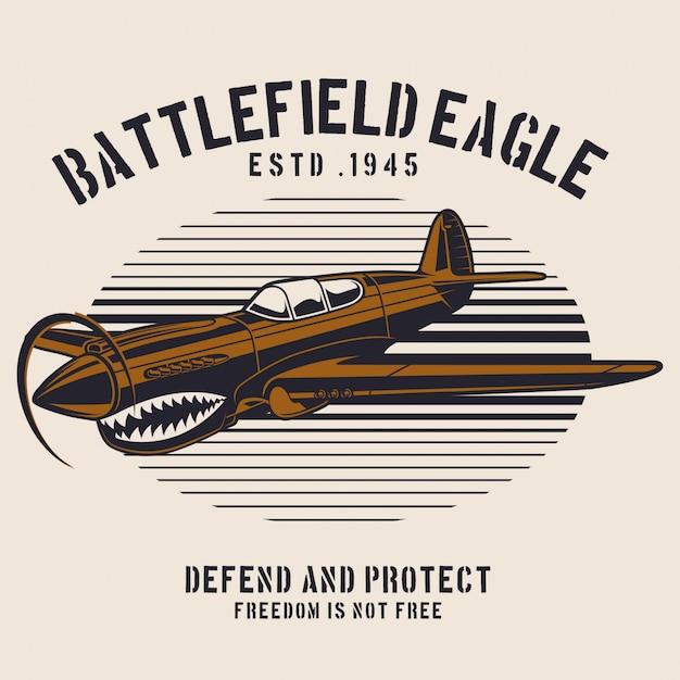 Battlefield Eagle Avion Vecteur Premium